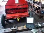 Wyważanie wału bijakowego maszyny do rozdrabniania gałęzi, za pomocą przyrzadu VibroDAQ 2